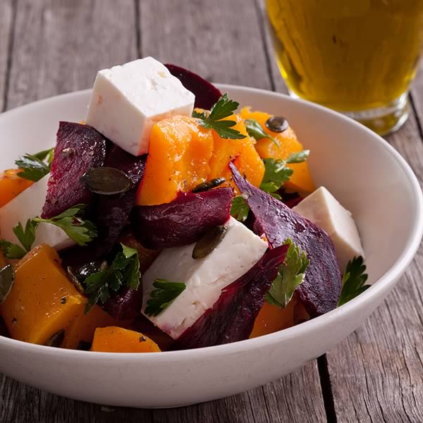 Meze Feta, Beetroot  & Pumpkin  Salad