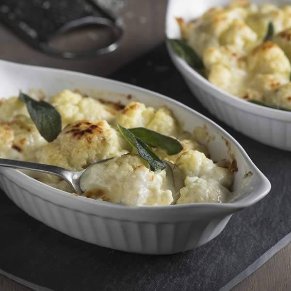 Cauliflower, Cheddar and Sage Gratin