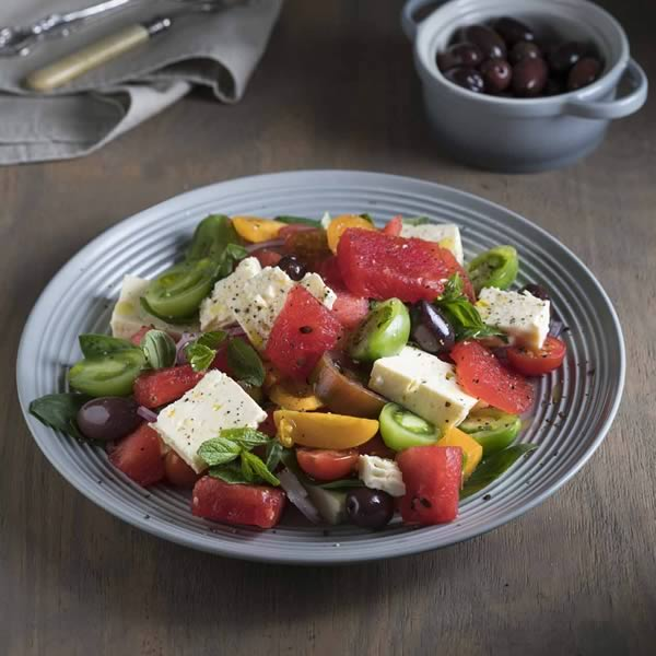 Watermelon 'Village' Salad With Feta